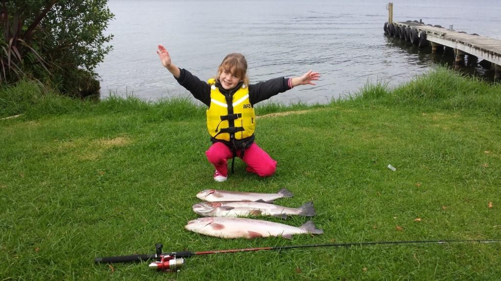 Trout fishing on lake rotoiti rotorua