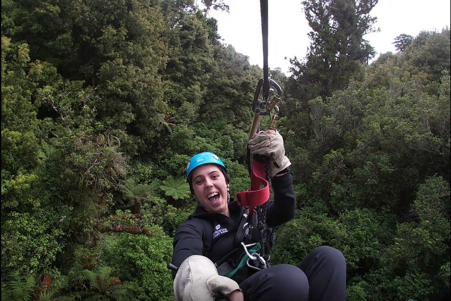 Eco Tours guide Santraea at Rotorua Canopy Tours