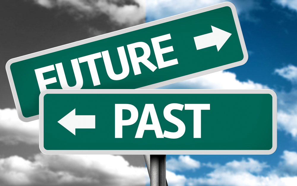 Future x Past creative sign with clouds as the background-1