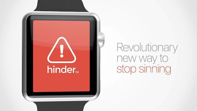 Hinder, a revolutionary way to stop sinning.—A Monthly Membership Exclusive