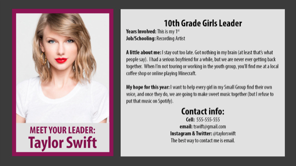 Perks of the parent pack, a leadership profile card template.