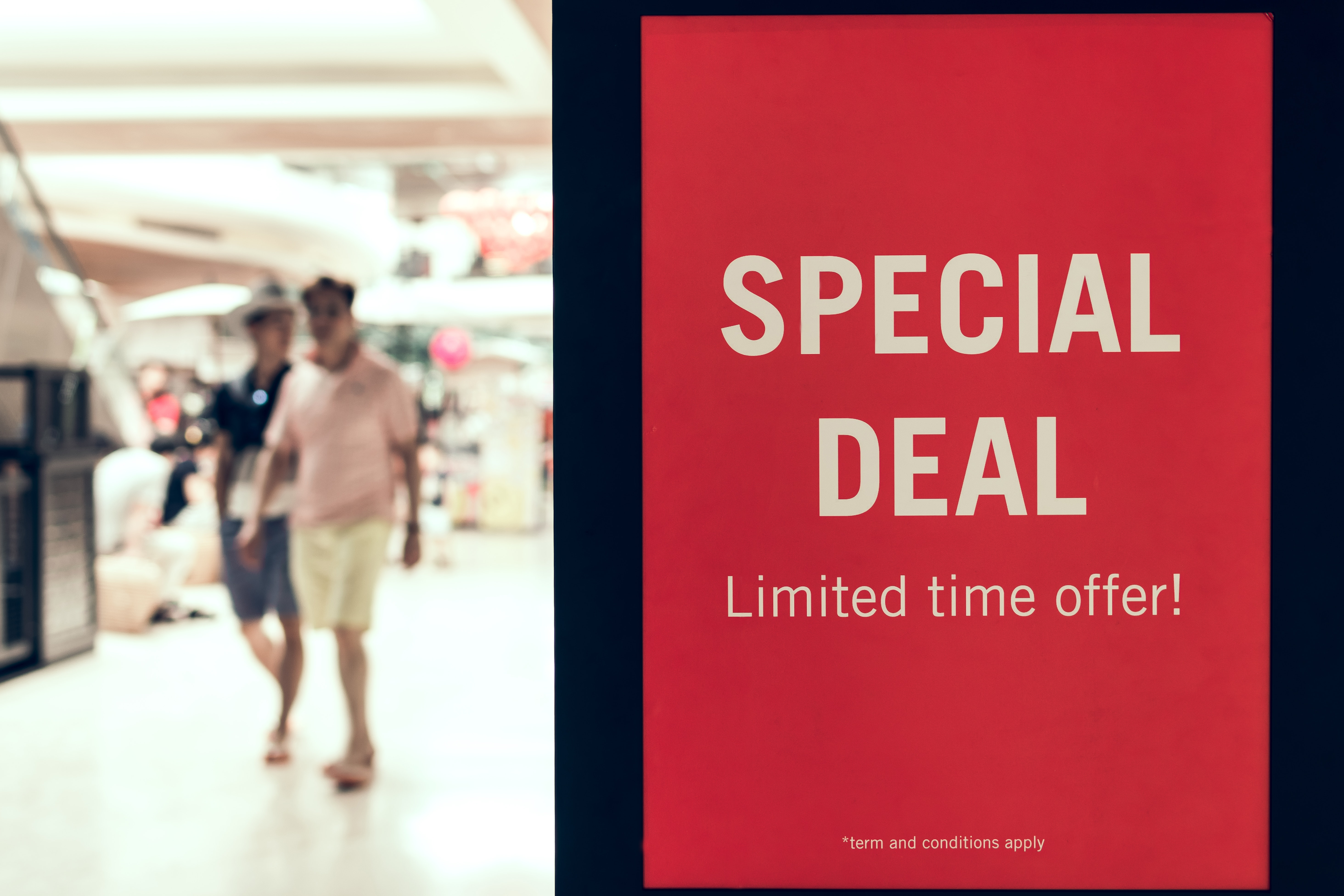 special deal for retail store