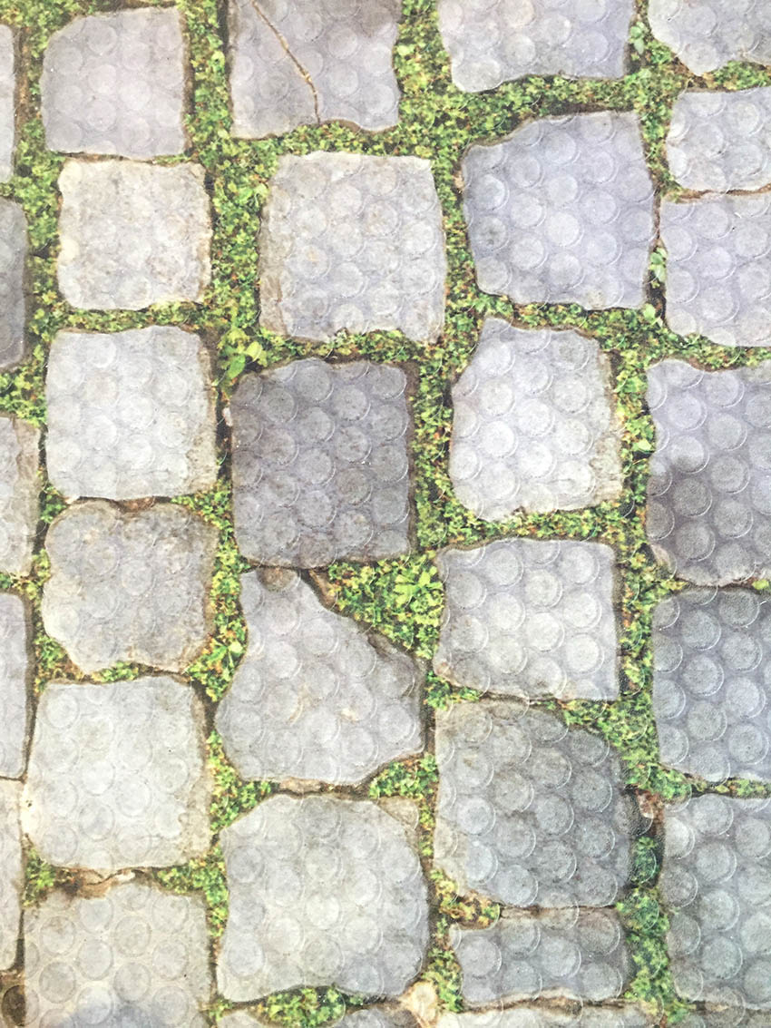 cobbled floor