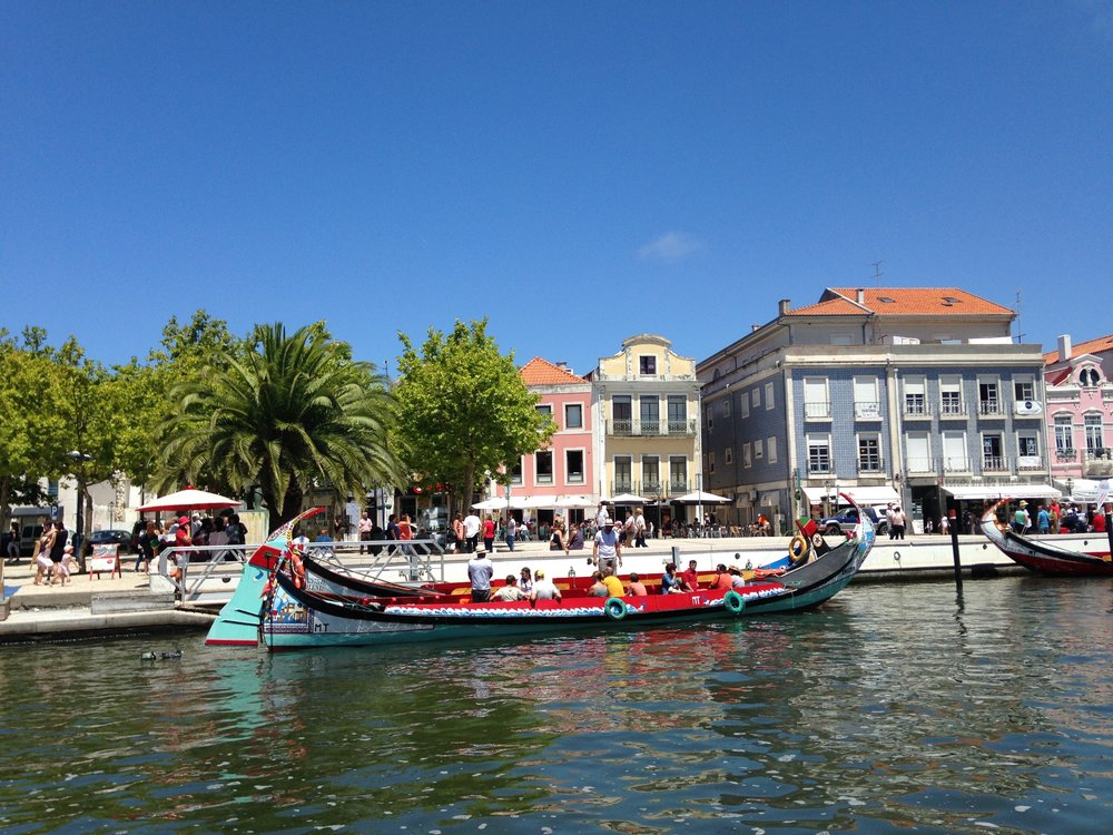 aveiro canal with boats