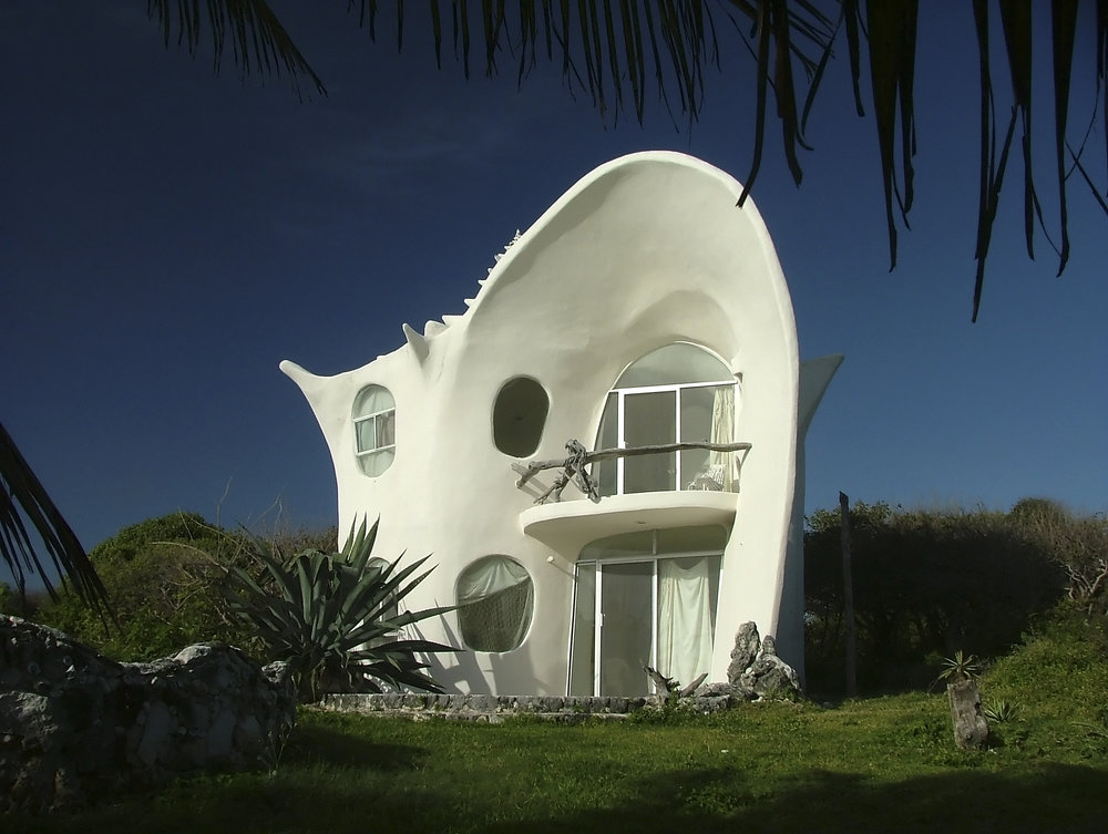 quirky cool Airbnb house in Isla Mujeres Mexico