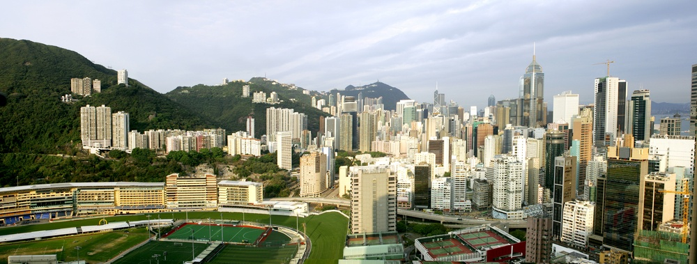 horse reaces in Happy Valley in Hong Kong