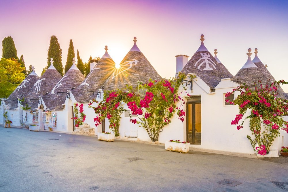 beautiful trulli houses in puglia italy which you can Airbnb