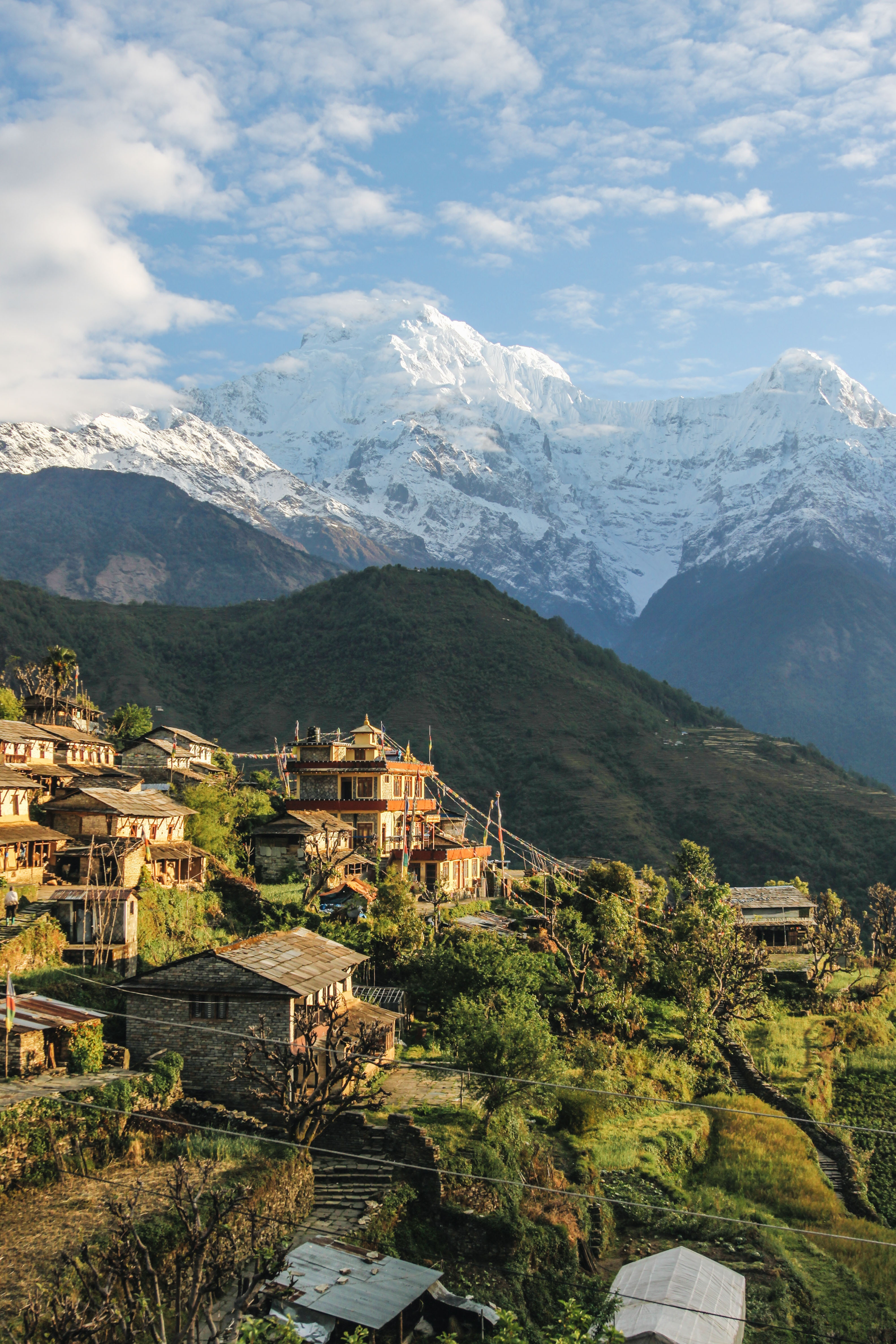 Stunning mountain town -Annapurna, Narchyang, Nepal- Photo by: Giuseppe Mondì