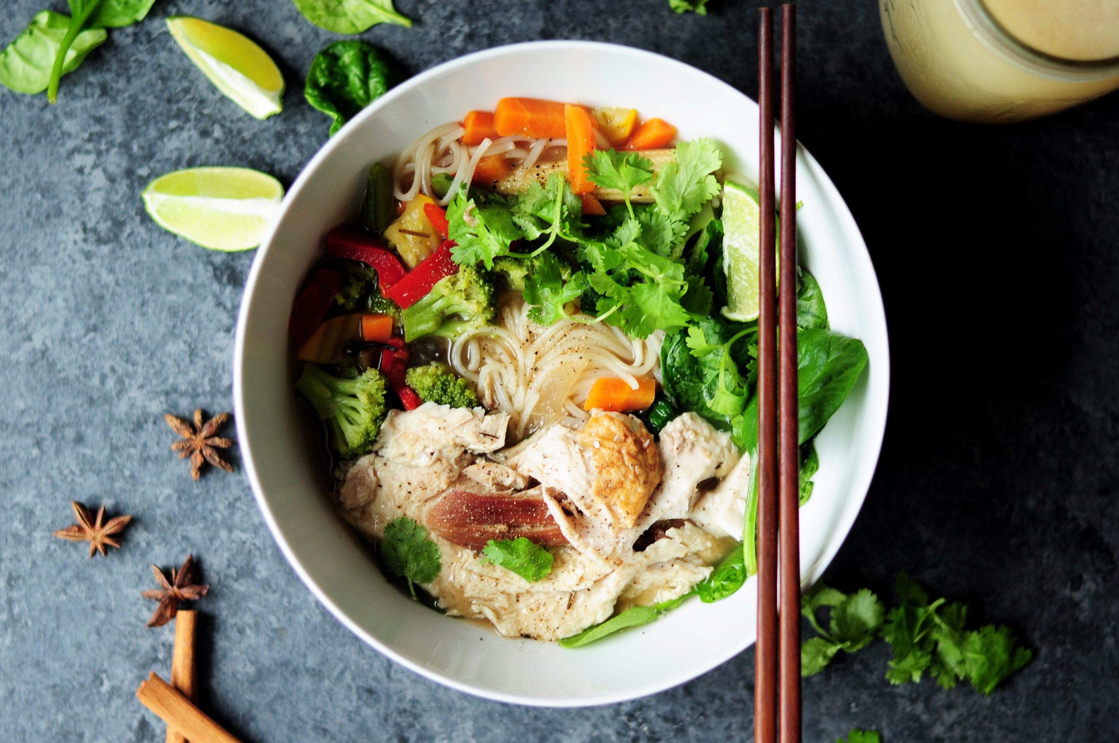 A delicious vietnamese dish with fish and noodles in a bowl