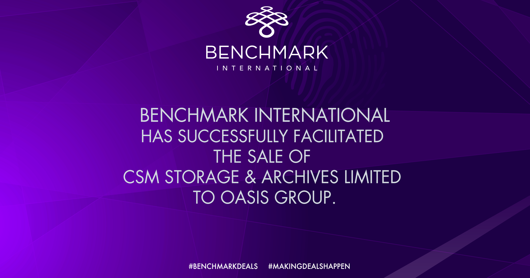 Benchmark International Has Successfully Facilitated the Sale of CSM