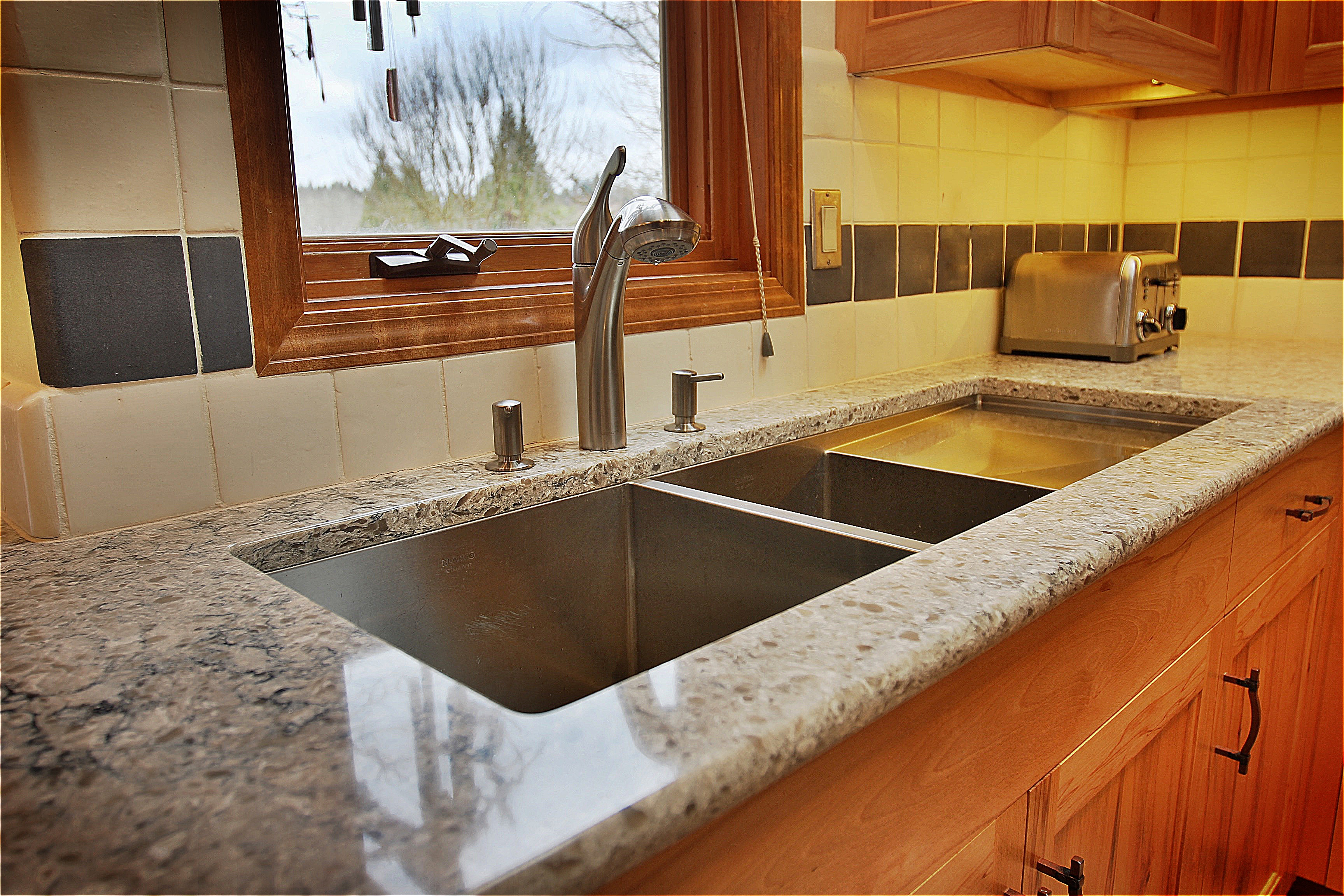 fill kitchen labels by wonderful full cost stainless of installed countertops furniture your steel granite dream sink to grey countertop connected brown