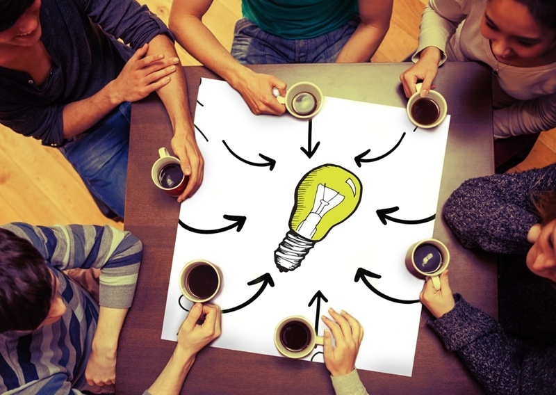 Open innovation involves collaborating with like minded businesses to achieve results.