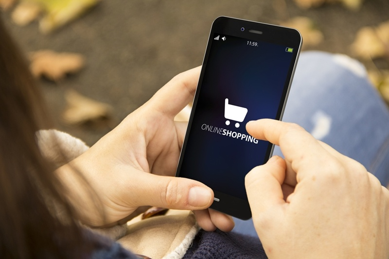 Consumers are using their mobile phones to shop online.