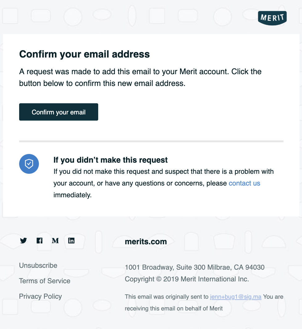 confirm email merge request