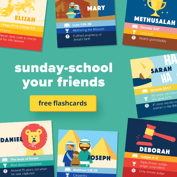Sunday-school your friends with free flashcards
