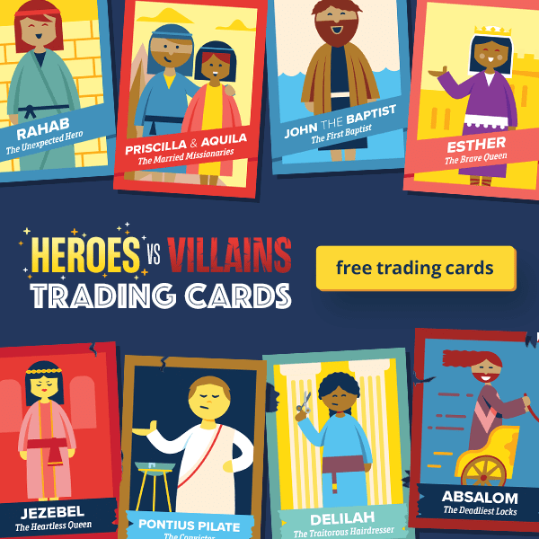 Get the FREE Heroes vs Villains Trading Cards