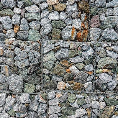 Close up image of Gabion blocks
