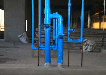 Water pipes in house
