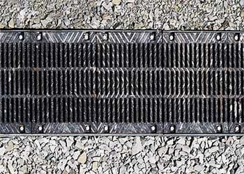 Trench drain with a grate over it