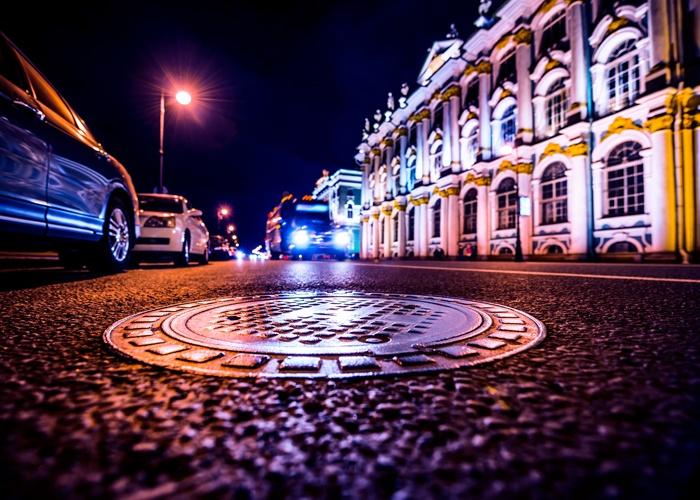 Manhole in Road