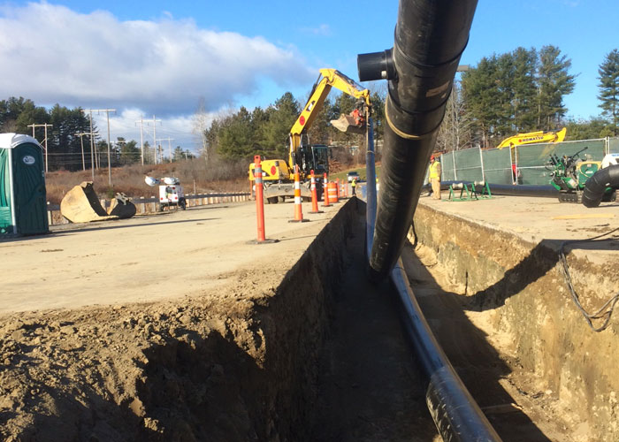 HDPE Pipe in Trench