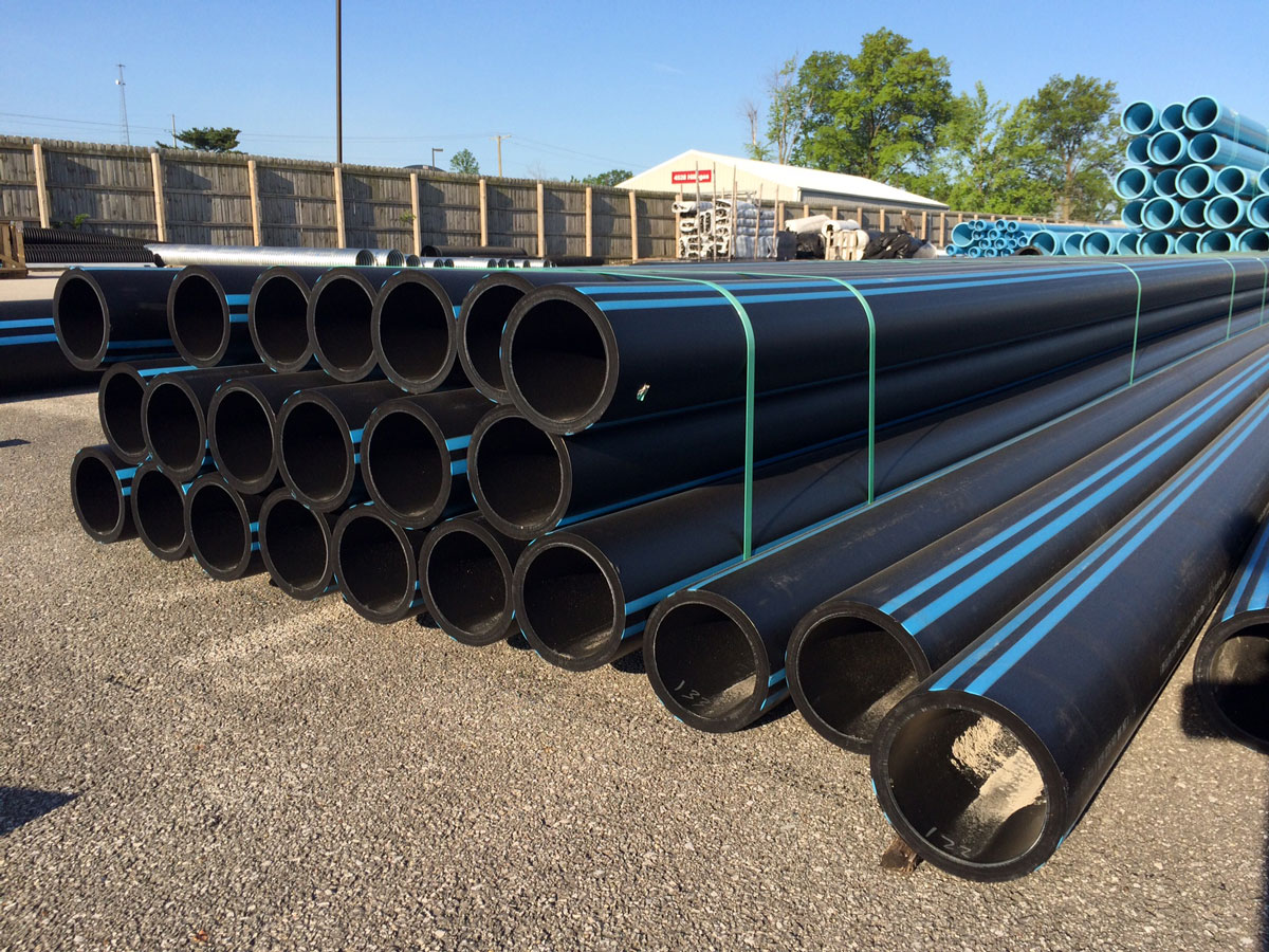 Pile of HDPE Pipe