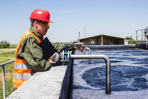 worker monitoring water system