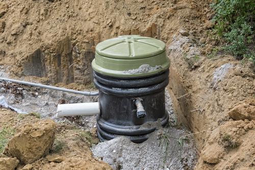 grinder sewage pump in the ground