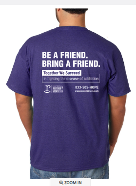 Recovery Month shirt - back