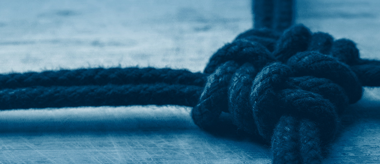 Abstract image: Tied knot