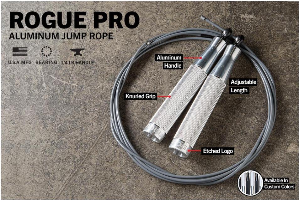 Rogue Fitness SR-3 Long Handle Bushing Speed Jump Rope Adjustable Jumprope