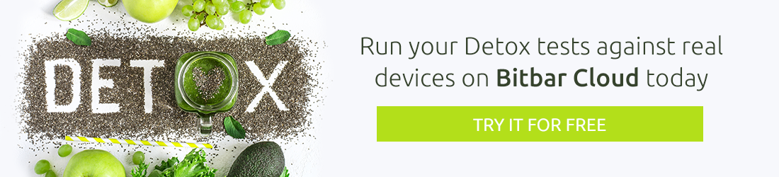 Automate Detox Mobile Tests on Real Devices in the Cloud - Bitbar