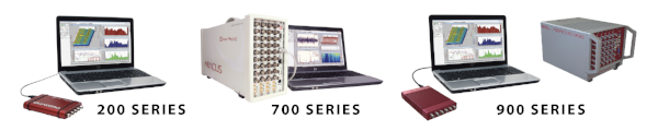 Data Physics 200, 700, and 900 series vibration controllers.