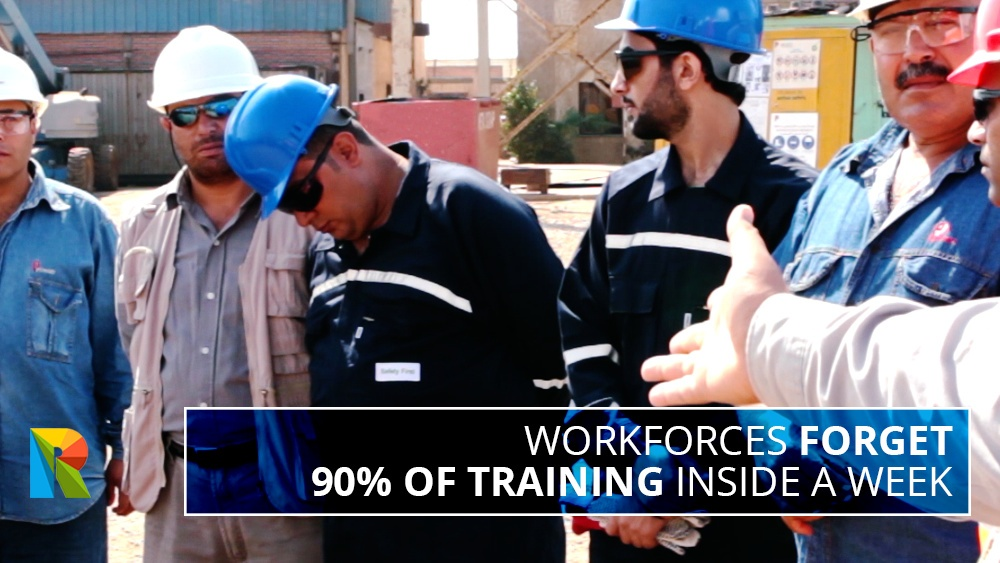 Workforces forget 90% of training inside a week: how video stops this