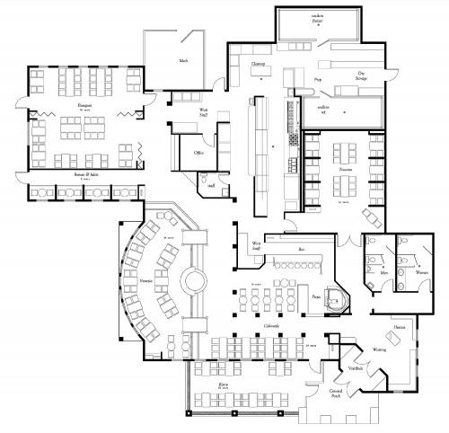 Restaurant Kitchen Plans Layouts: 9 Restaurant Floor Plan Examples & Ideas For Your Restaurant Layout