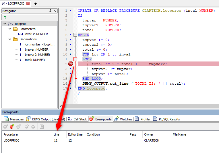 Debugging PL/SQL Code with Toad for Oracle