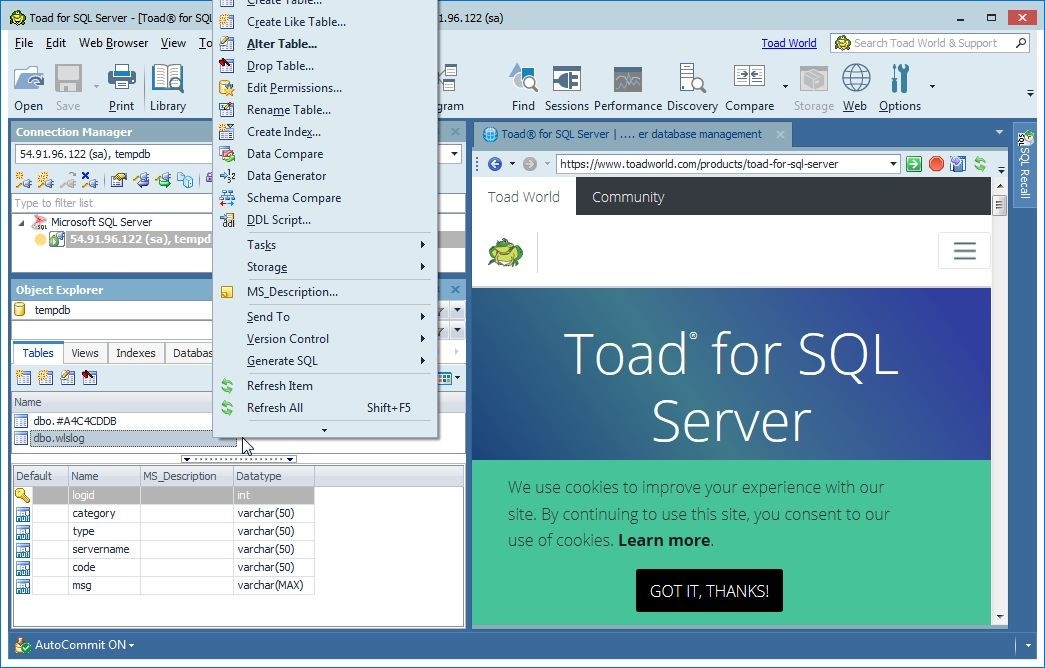 Using Toad for SQL Server with AWS Fargate - 2
