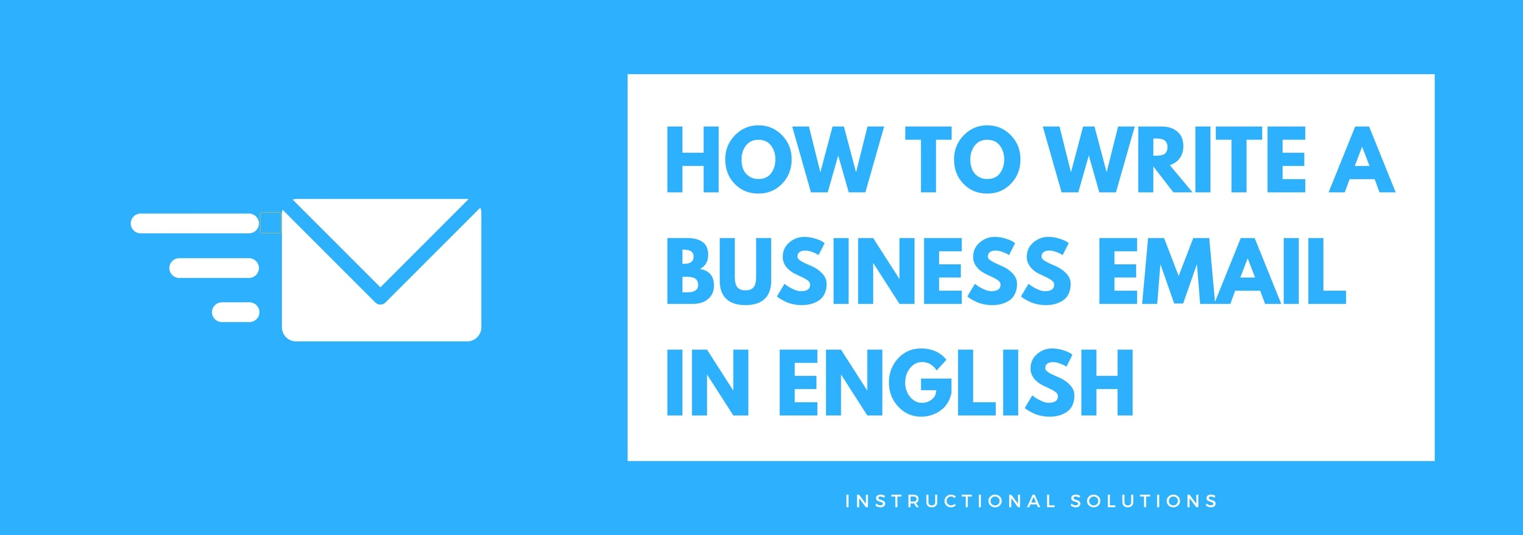How to write an email in english business