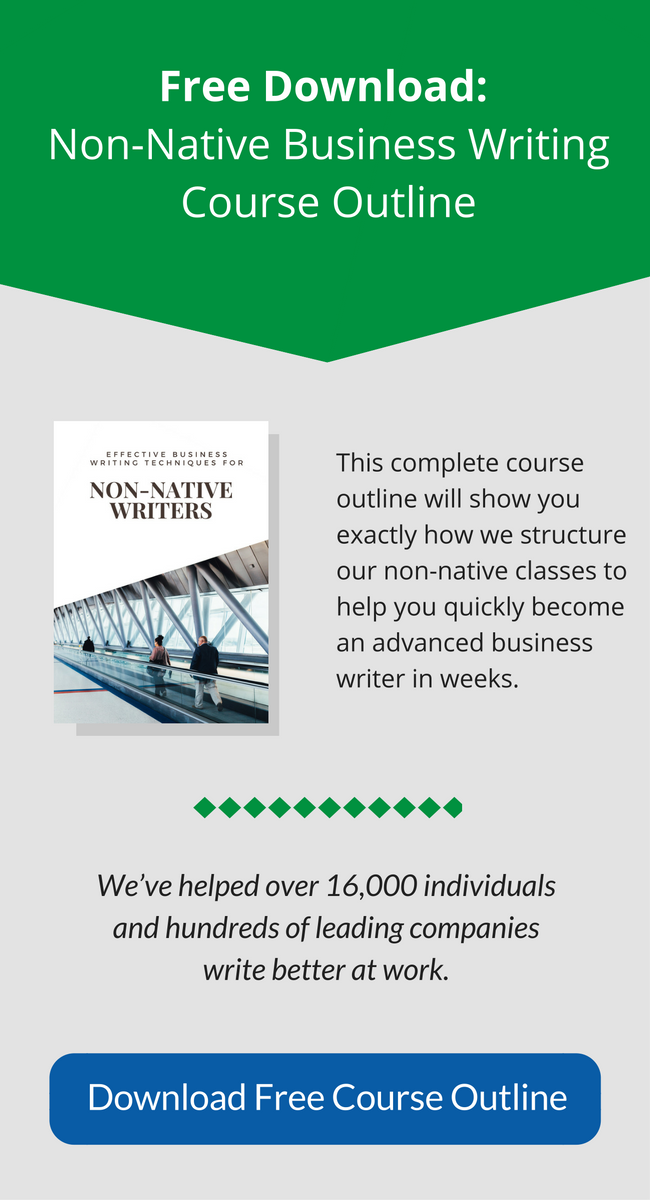 Business writing training module