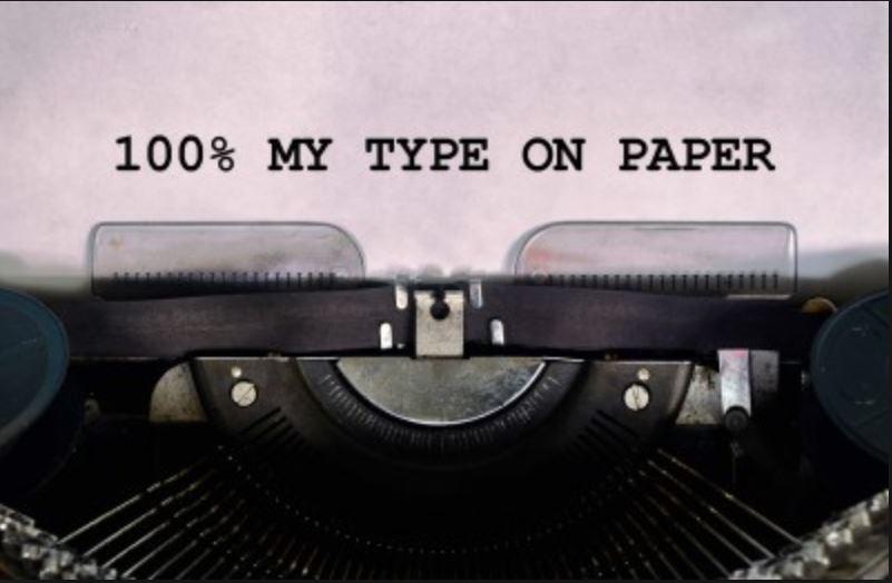 100% My Type on Paper!