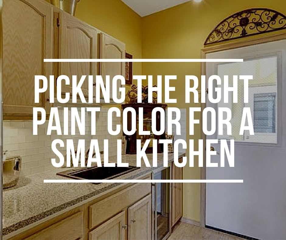 how to pick the right paint color for a small kitchen