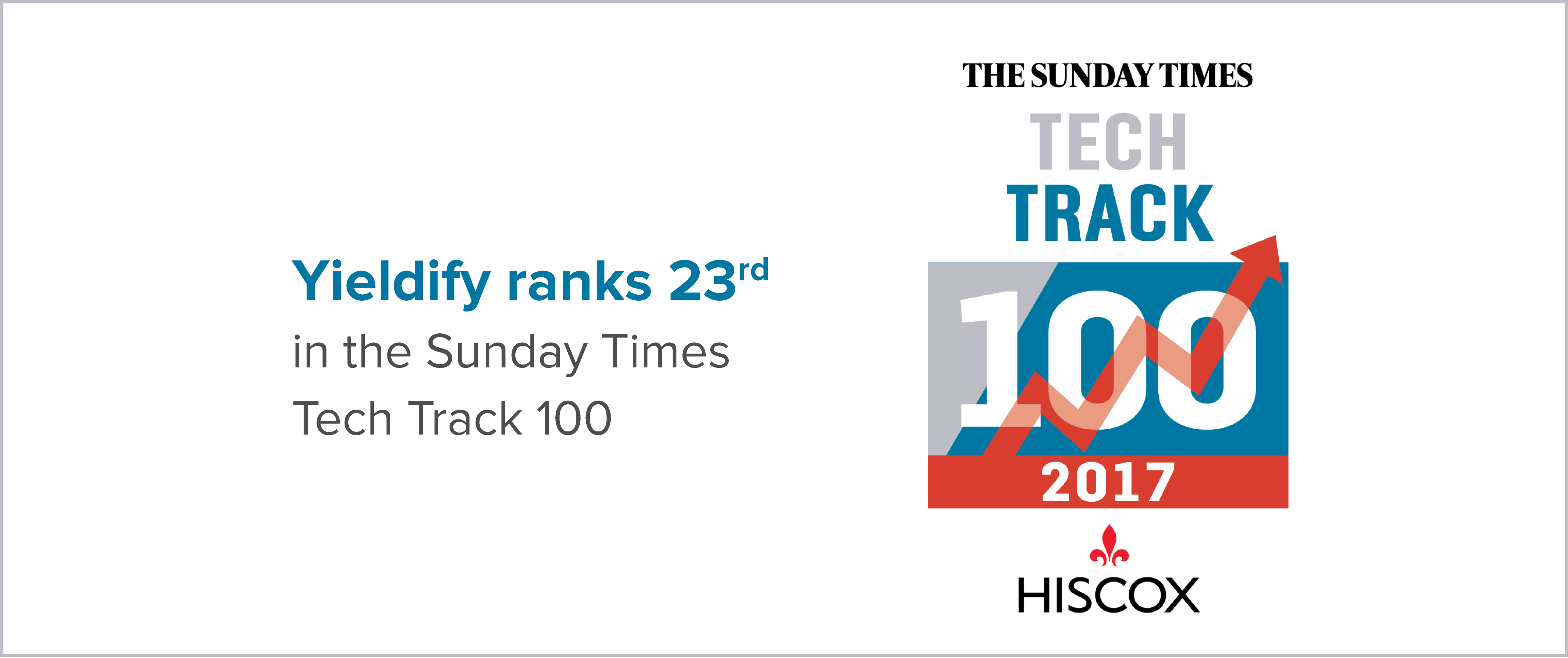 Sunday Times Tech Track 100 listing 2017