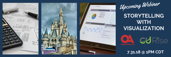 Storytelling with Visualization, Upcoming Webinar featuring OnApproach and CU Rise