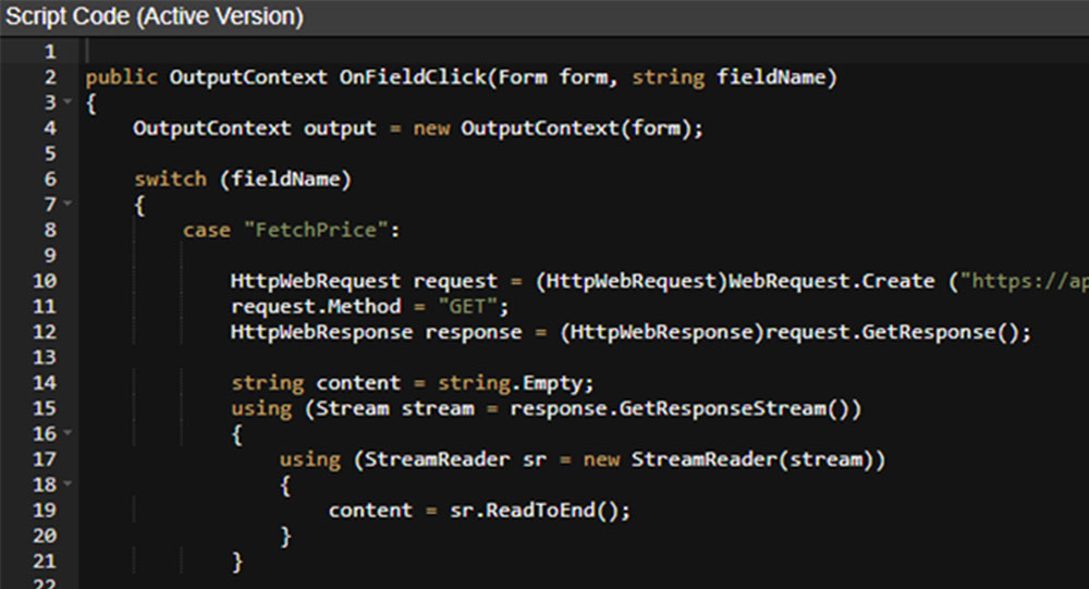 C# scripting from within your eForm objects.  Makes eForms more flexible than any other logbook system.