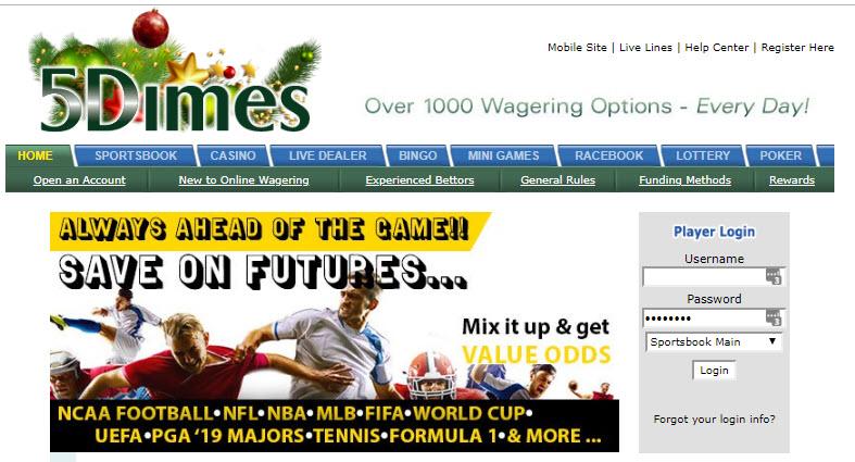 5Dimes Sportsbook Bonus Review 50