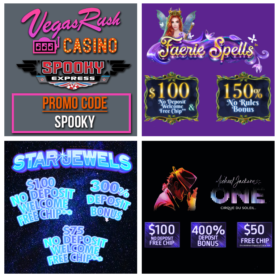 Vegas Rush Casino Bonus Code [No Deposit Bonus] | Spooky Express