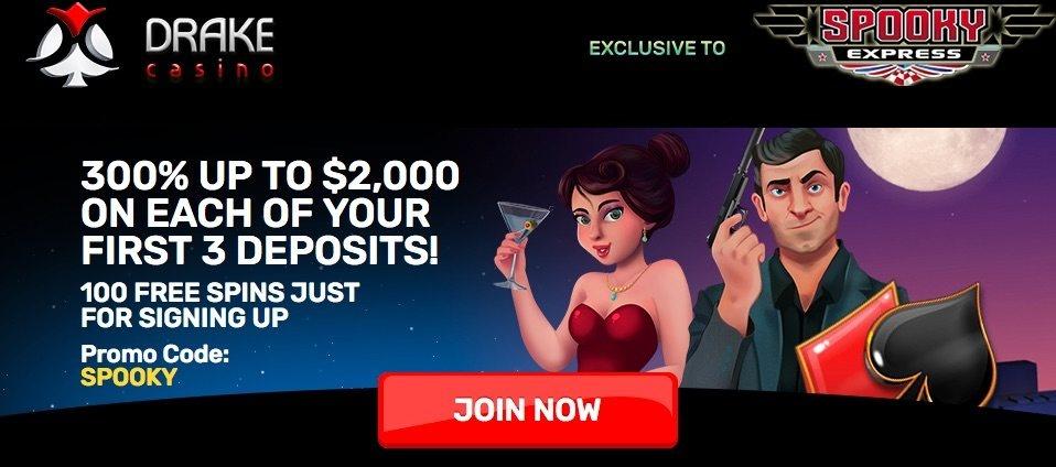 Drake Casino Bonus Code [No Deposit Bonus] | Spooky Express