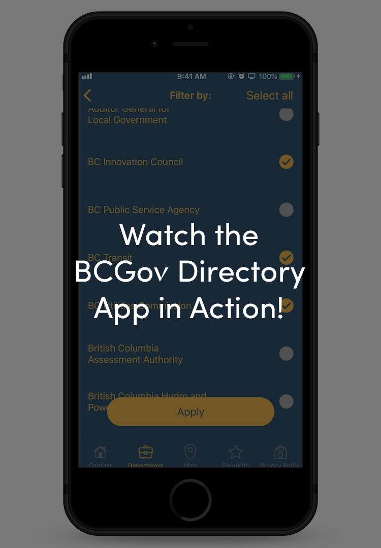 BCGov Directory: Connecting Citizens with BC Government