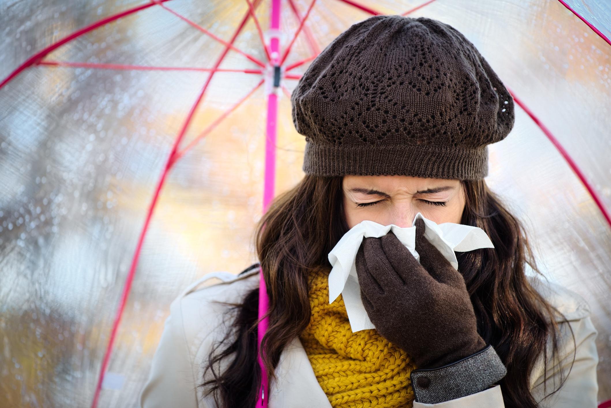 woman-coughing-underneath-umbrella-richmond-va-weather