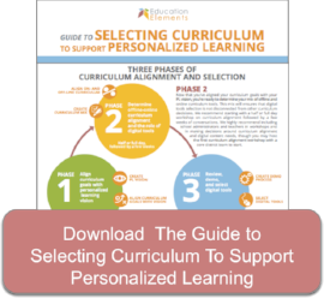 Download the Curriculum Selection Guide to Support Personalized Learning